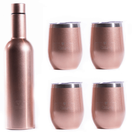 Insulated Decanter in Rose Gold Shimmer - INNsulated Party Gift Set